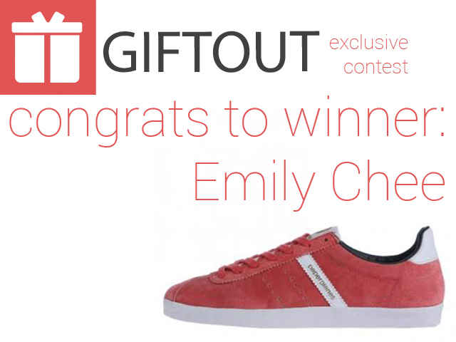 Congrats to Emily Chee for winning the 9 August 2015 Giveaway