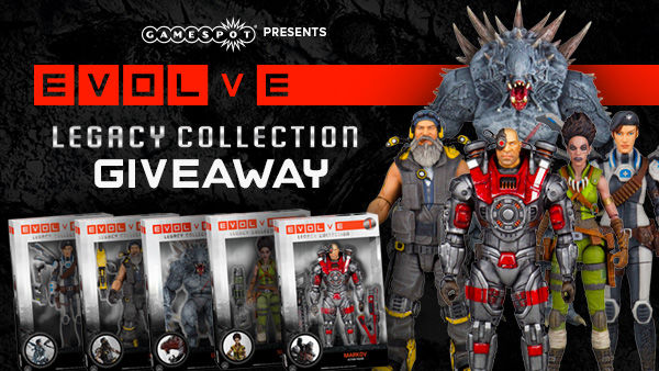 Evolve Legacy Action Figure Giveaway at GameSpot USA