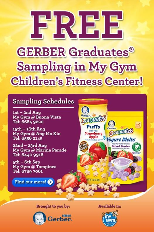 FREE GERBER Graduates Sampling in My Gym Children's Fitness Center Singapore