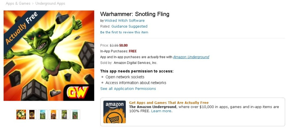 FREE Warhammer Snotling Fling Game at Amazon 1