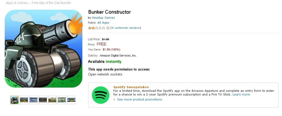 Free Android Game at Amazon Bunker Constructor 1