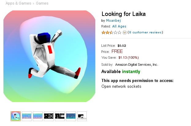 Free Android Game at Amazon Looking for Laika