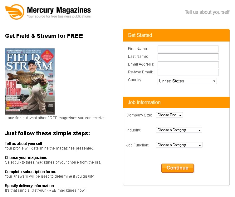 Free Field & Stream at Mercury Magazines
