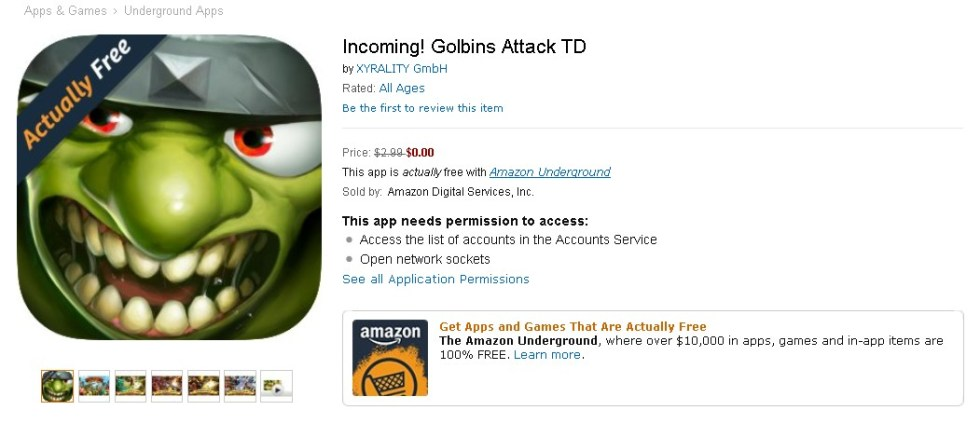 Free Game at Amazon Incoming! Golbins Attack TD