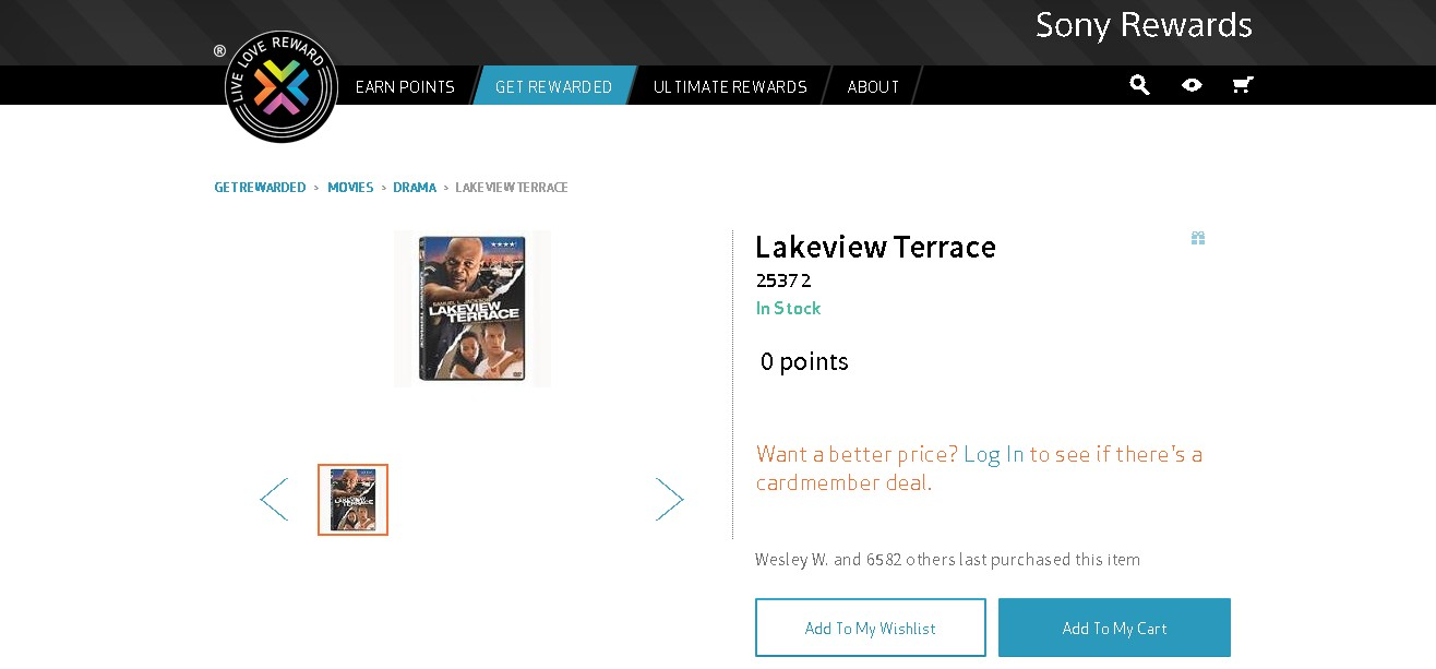 Free Lakeview Terrace DVD at Sony Rewards - #GIFTOUT #FREE