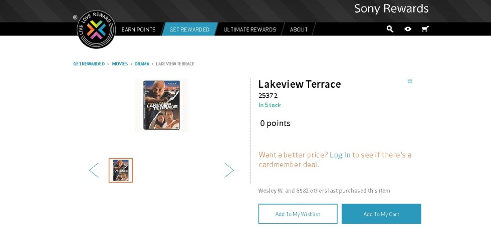 Free Lakeview Terrace DVD at Sony Rewards (2)