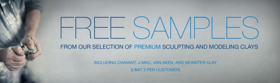 Free Premium Sculpting and Modelling Clays Samples at American Fine Arts Supplies