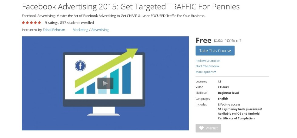 Free Udemy Course on Facebook Advertising 2015 Get Targeted TRAFFIC For Pennies  1