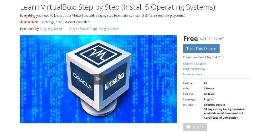 Free Udemy Course on Learn VirtualBox Step by Step (Install 5 Operating Systems)  1