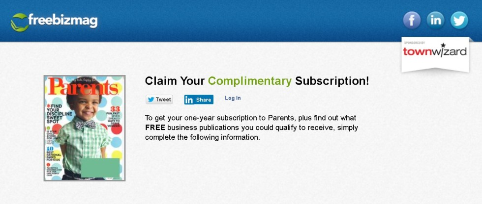 Free one-year subscription to Parents Magazine at Freebizmag