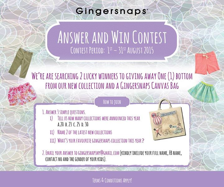 Gingersnaps New Collection Giveaway
