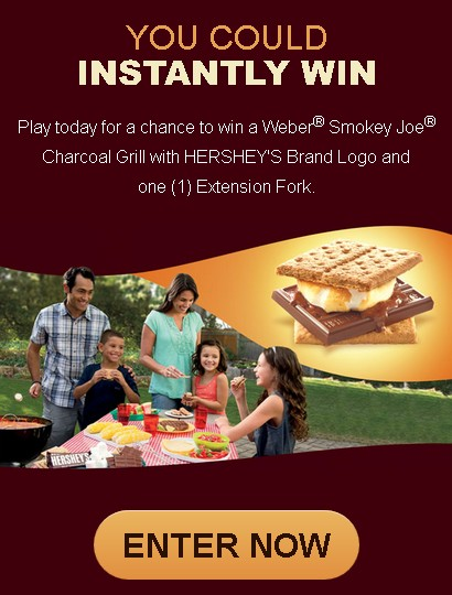 HERSHEY'S 2015 SUMMER S'MORES GRILLING  INSTANT - WIN  GAME