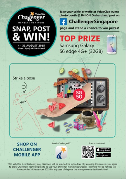 'Snap, Post & Win' at Challenger Singapore