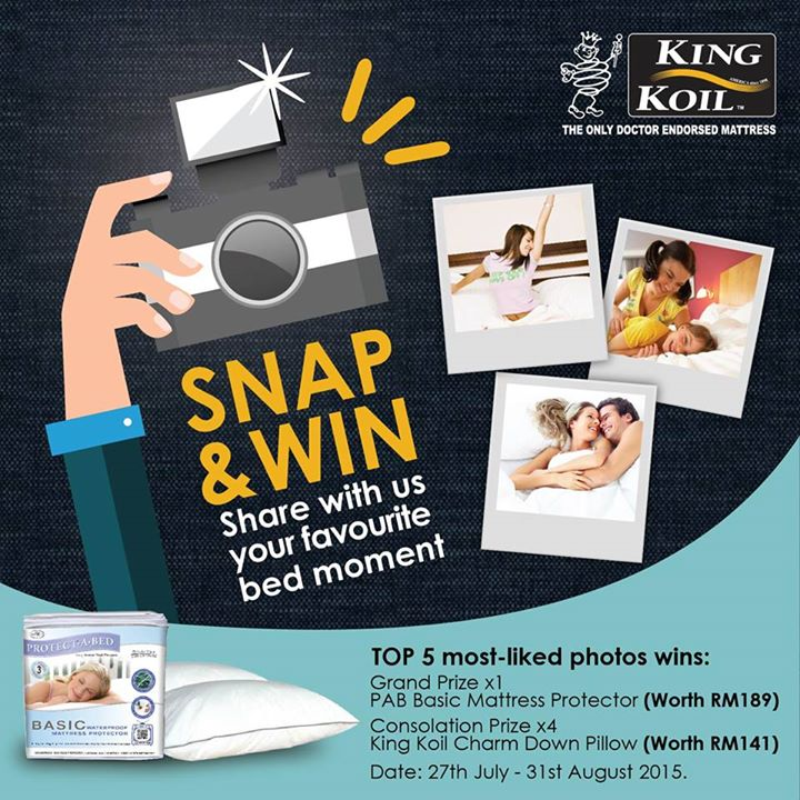 Snap & Win King Koil Malaysia Contest
