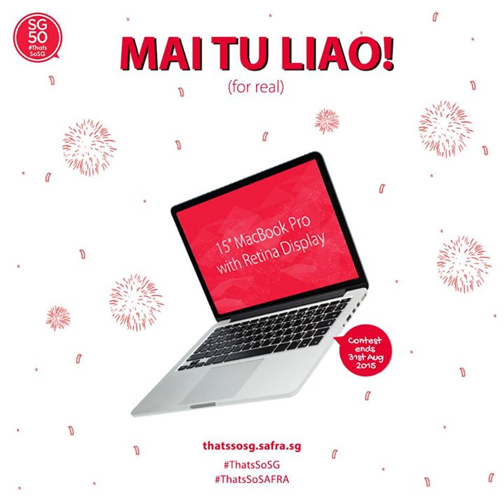 """WIN Grand Prize, a 15"""" Macbook Pro with Retina Display at SAFRA Singapore"""