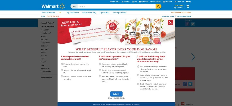 Walmart Contest What Beneful Flavour does your dog savour  (2)