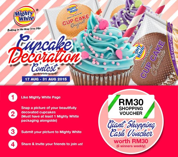 Win RM30 Giant Shopping Cash Voucher at Mighty White Malaysia