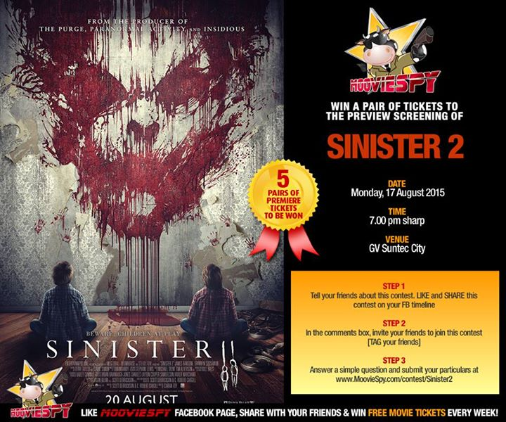 Win Screening Tickets of SINISTER 2 at MoovieSpy