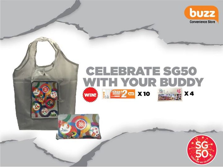 Win a Pair of Exclusive SG50 Bag in Yellow, Buzz & Spinelli Vouchers