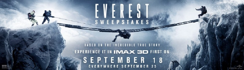 $500WIN American Express Gift Card & $130 Everest Prize Package from MovieTickets.com