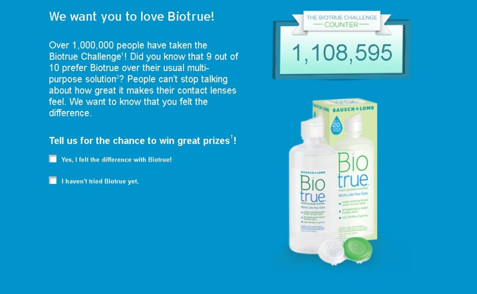Biotrue USA Challenge Sweepstakes