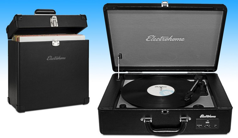 Engadget giveaway An Electrohome Archer turntable and record case
