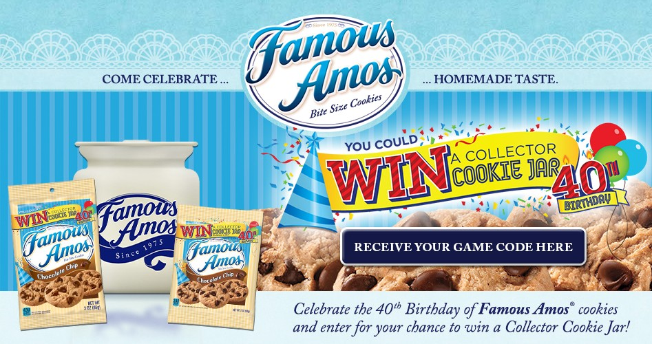 FAMOUS AMOS™ 40TH BIRTHDAY TEXT-TO-WIN GAME