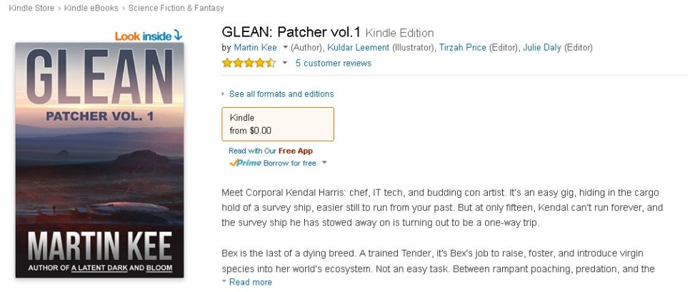 FREE @ Amazon  GLEAN Patcher vol.1 Kindle Edition 1