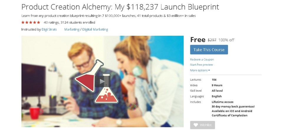FREE Udemy Course on Product Creation Alchemy My $118,237 Launch Blueprint