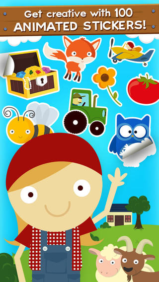 Free @ iTunes Lily's Farm Animal Stickers Premium