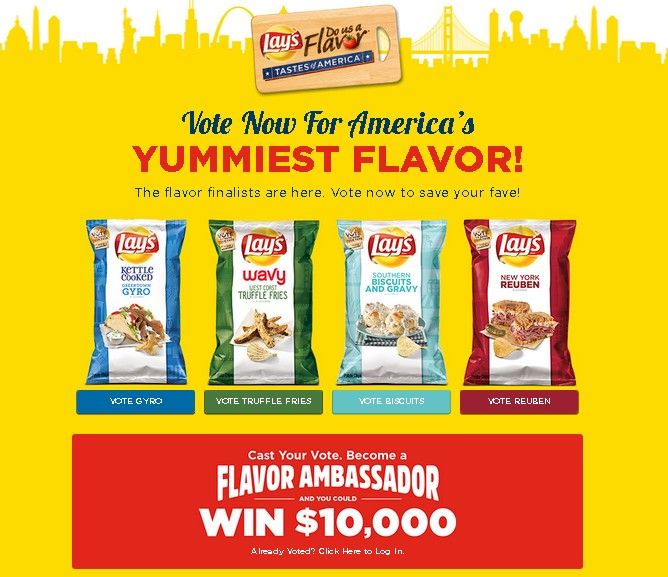 LAY'S® DO US A FLAVOR™ TASTES OF AMERICA™ CONTEST