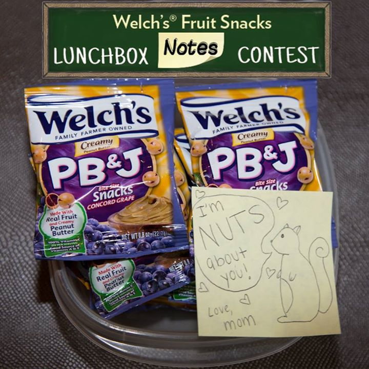 Share your lunchbox note for a chance to win $1,000 at Welch's Fruit Snacks USA