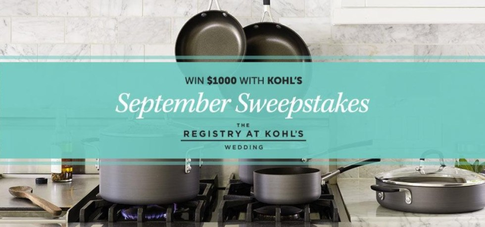 WIN $1000 with KOHL's September Sweepstakes