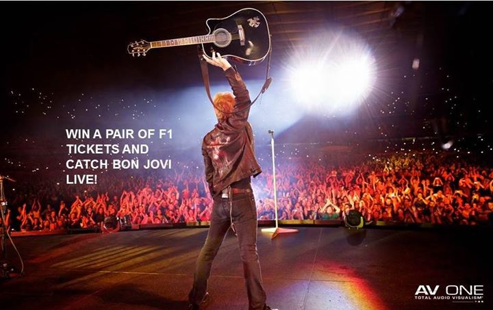 WIN a pair of F1 Race tickets for 20th Sept and catch Bon Jovi LIVE!