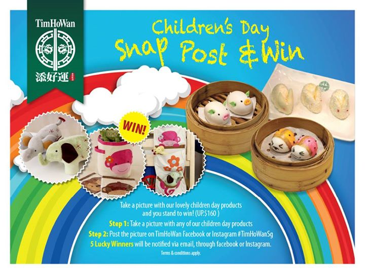 WIN adorable children day dim sums at Tim Ho Wan Singapore