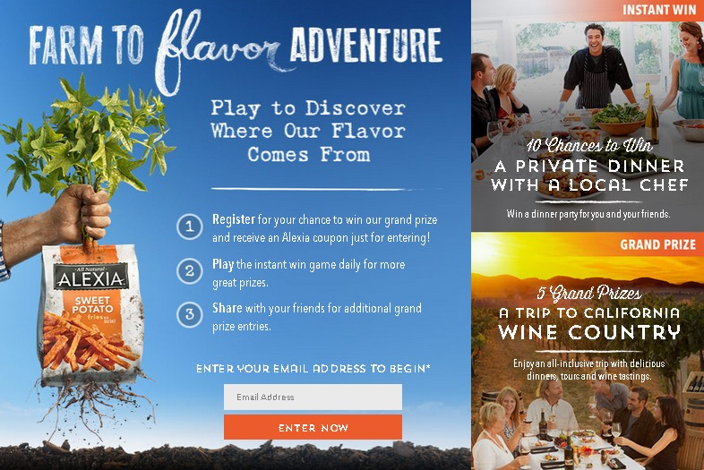 Win A Trip To California Wine Country at Alexia USA