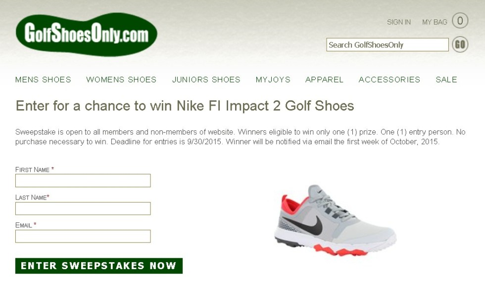 Win Nike FI Impact 2 Golf Shoes at golfshoesonly.com FORM