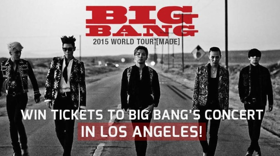 Win tickets to Big Bang's concert in Los Angeles at allkpop