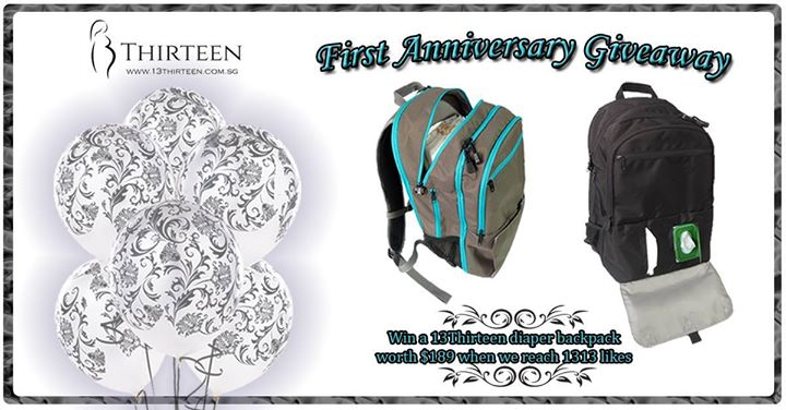 13Thirteen's First Anniversary Giveaway Diaper backpack