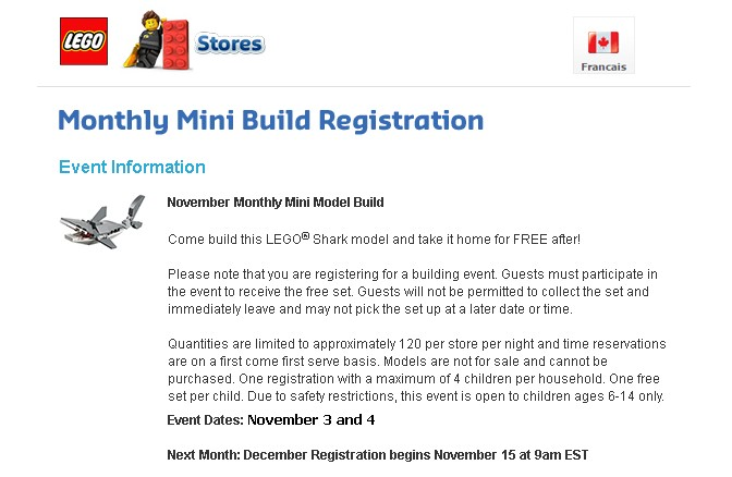 Come build this LEGO® Shark model and take it home for FREE after!