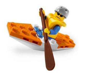 Create their very own Mini LEGO City Kayak