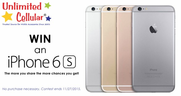 Enter to Win a New iPhone 6s at Unlimited Cellular USA