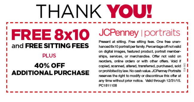 FREE 8x10 from JCPenney Portraits