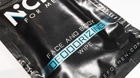 FREE Niche For Men face and body deodorizing wipe samples