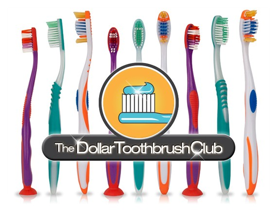 FREE One Toothbrush and Shipping from The Dollar Toothbrush Club