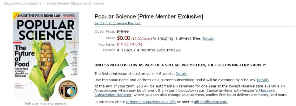 FREE Popular Science [Prime Member Exclusive] at Amazon (2)