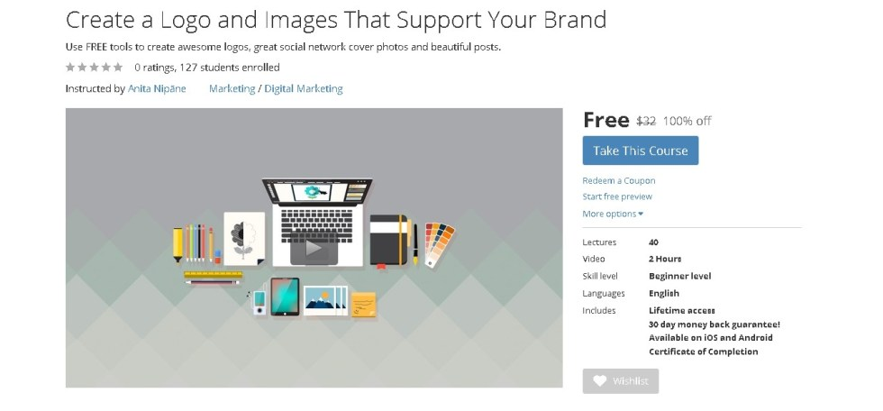 FREE Udemy Course on Create a Logo and Images That Support Your Brand