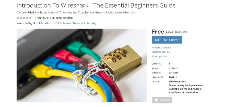 FREE Udemy Course on Introduction To Wireshark - The Essential Beginners Guide