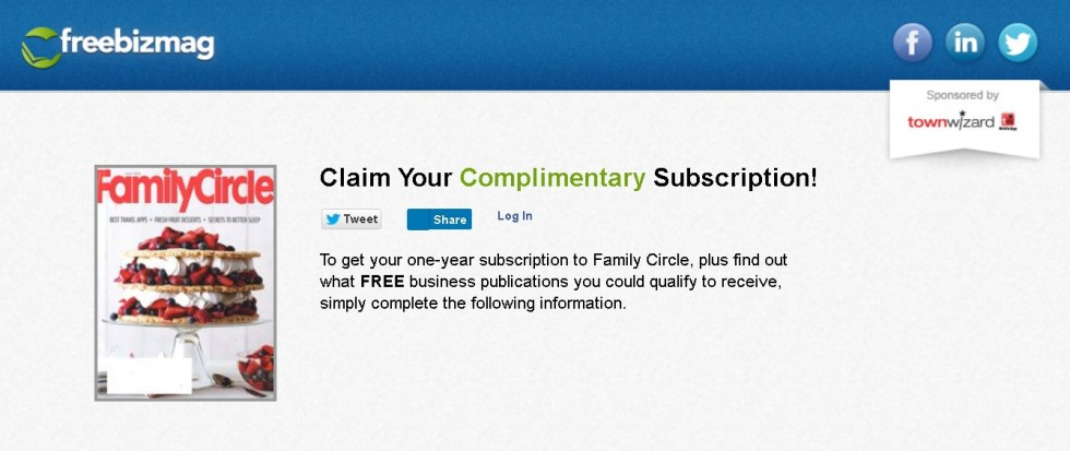 FREE one-year subscription to Family Circle Magazine at Freebizmag