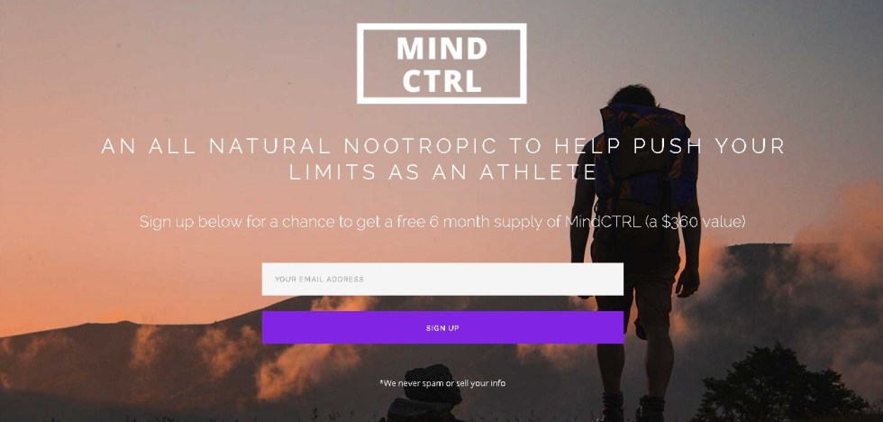 Free 6 month supply of MindCTRL (a $360 value)